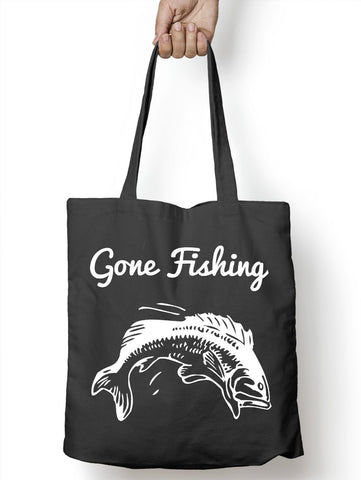Image of Gone Fishing Funny Carp Bait Tote Bag For Life Shopper Angling Shopping E62
