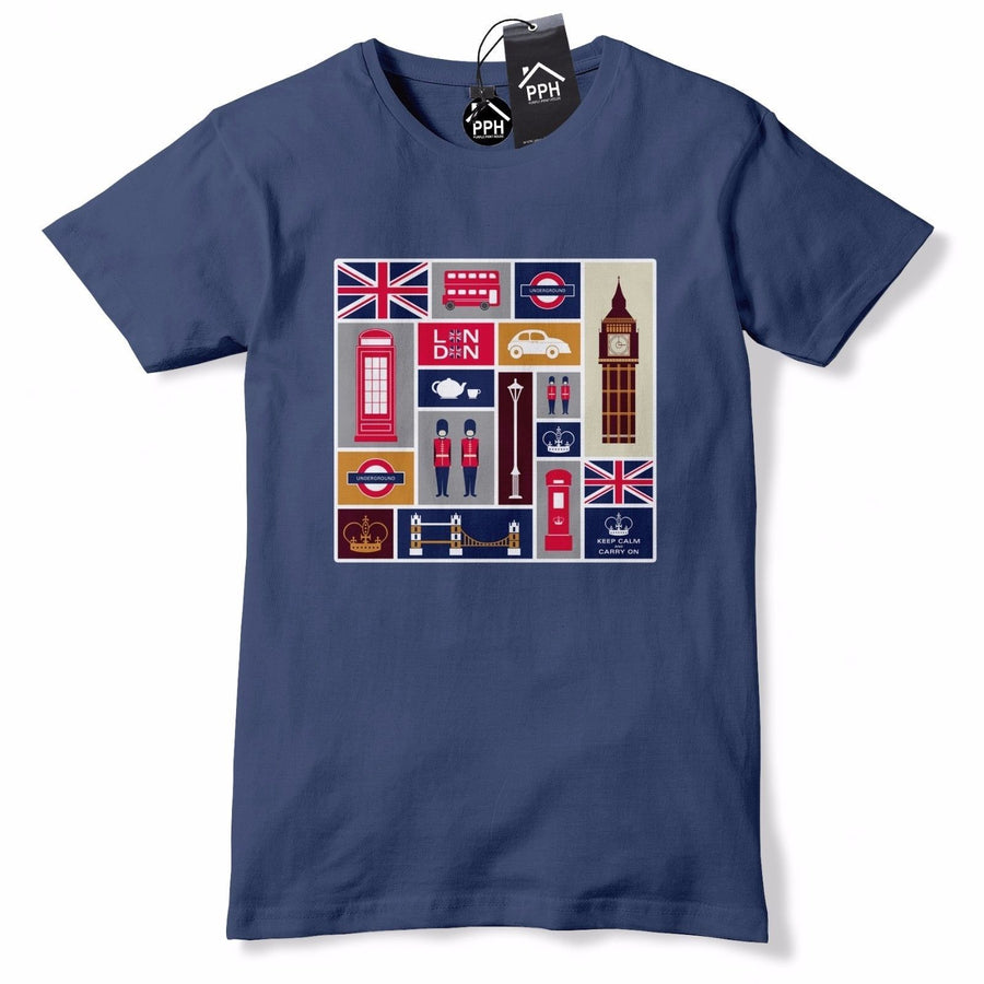 LONDON Landmark Icons T Shirt Big Ben Love England Tshirt Top Mens Womens 614