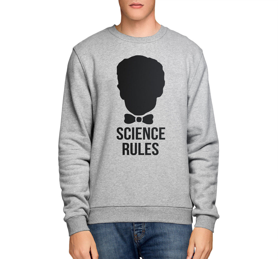 Bill Nye Science Rules Atom Funny Mens SWEATSHIRT Womens School Sweater Top E15