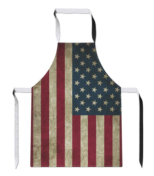 Vintage USA Country Flag Luxury Novelty APRON Kitchen Tabard Linen Gift America