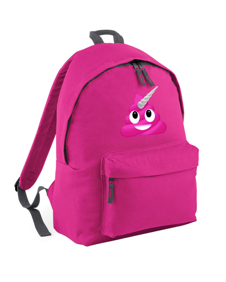 Unicorn Emoji Poop Backpack School Bag For Girl Boy Funny Millennial Hipster L79
