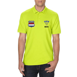 Van Gerwen Embroidered Darts Polo Shirt Neon Green Fancy Dress Mens S-XXL 891