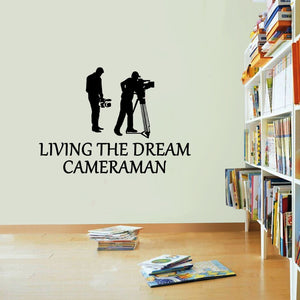 Cameraman Living The Dream Film Movies Wall Sticker Vinyl Print Decal Art Wall