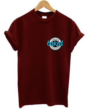 Baked Blue Logo T Shirt United Kingdom Urban Apparel Clothing Mens Womens Kids