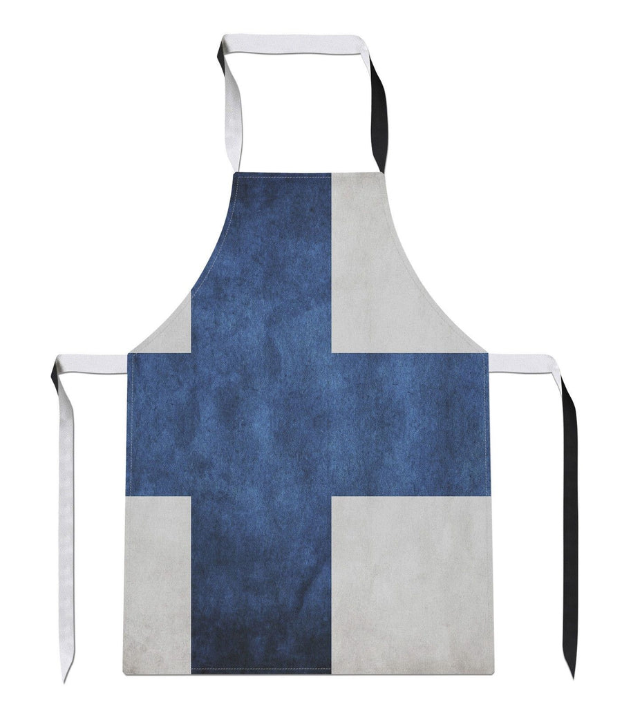 Vintage Finland Country Flag Luxury Novelty Football APRON Gift Kitchen Tabard