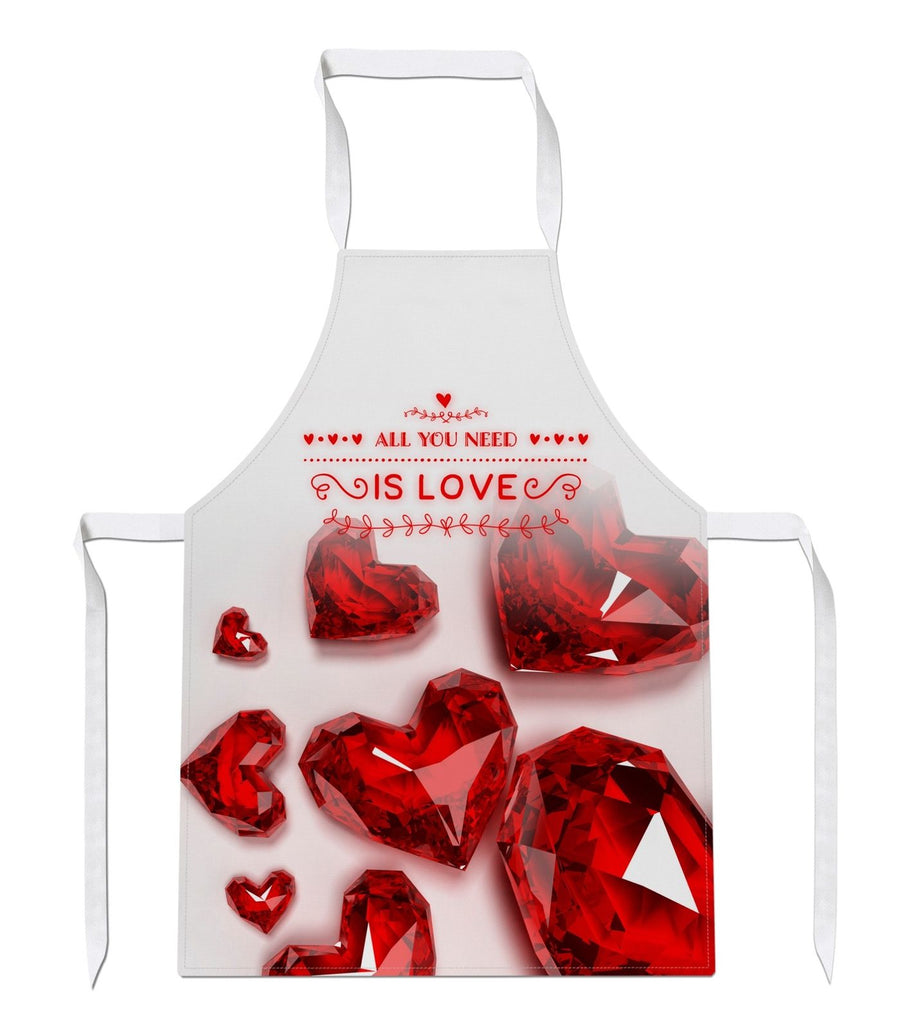 All You Need Is Love Apron Love Hearts Valentines Day Cute Gift Chef EM160