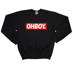 Oh Boy Dope Sweater Sweatshirt Baggy Jumper Mens Womens Hipster