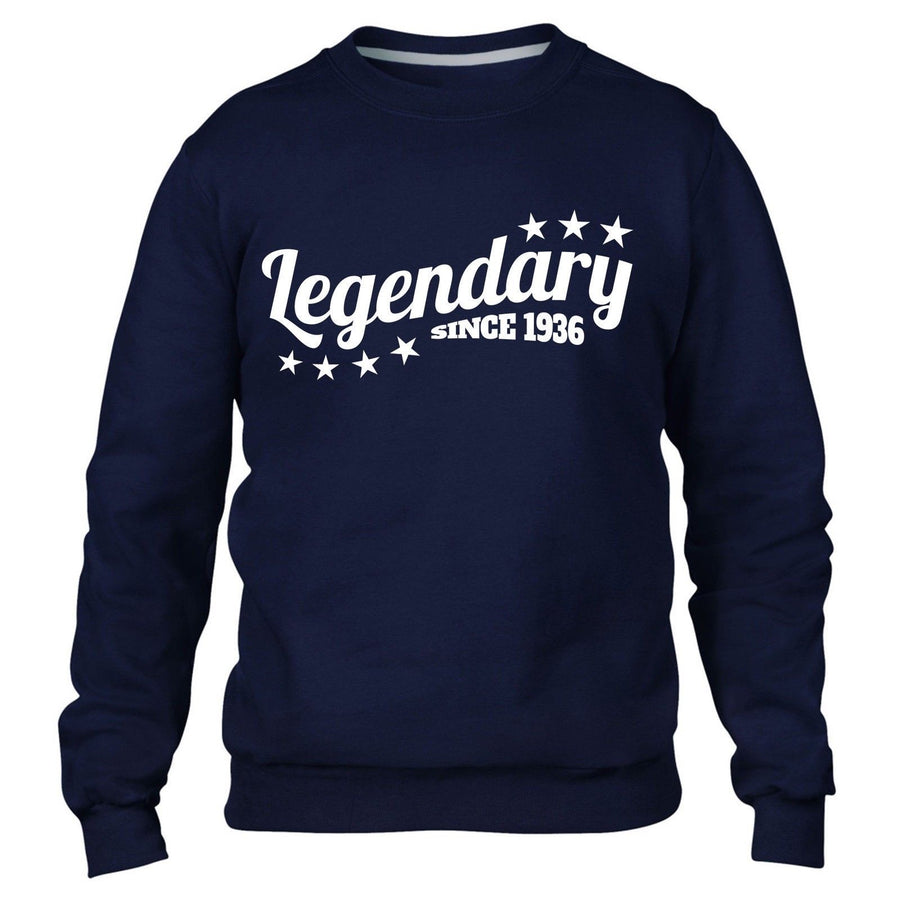 Legendary Since 1936 Sweatshirt Jumper Mens Womens Birthday Funny Present 80 81