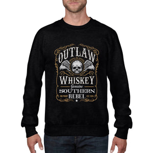 Outlaws Whiskey Vintage Sweatshirt Motorcycle Cub Fathers Day Drink Party 544