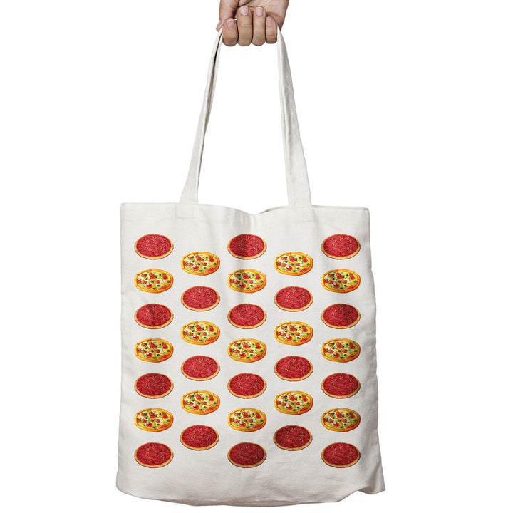 Pizza Pepperoni ALL OVER Love Food Geek Funny Shopper Tote Bag Shopping 533