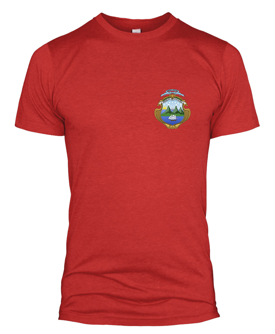 Costa Rica Retro Football T Shirt Kit World Cup 2018 Badge Men Women Kids L254