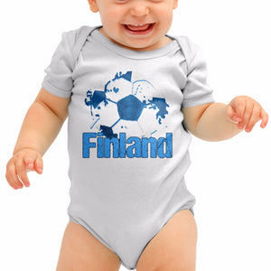 Finland Football Shirt Gift Finish Baby Grow Romper Suit Babygrow Newborn B40