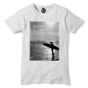 Bundoran Beach Ireland Tshirt Surf Board Mens Top Wax Famous Surfing T Shirt 118
