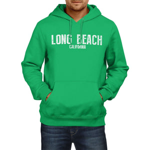 Long Beach California SLOGAN Mens US HOODIE America Football Hoody Sweatshirt