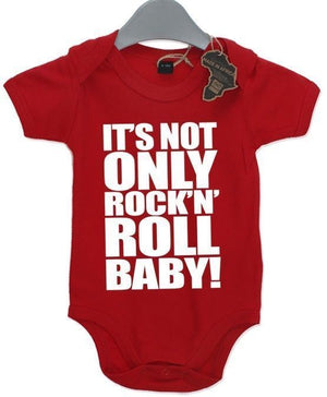 Its Not Only Rock N Roll Baby Grow BabyGrow Birthday Present Cute Funny Music