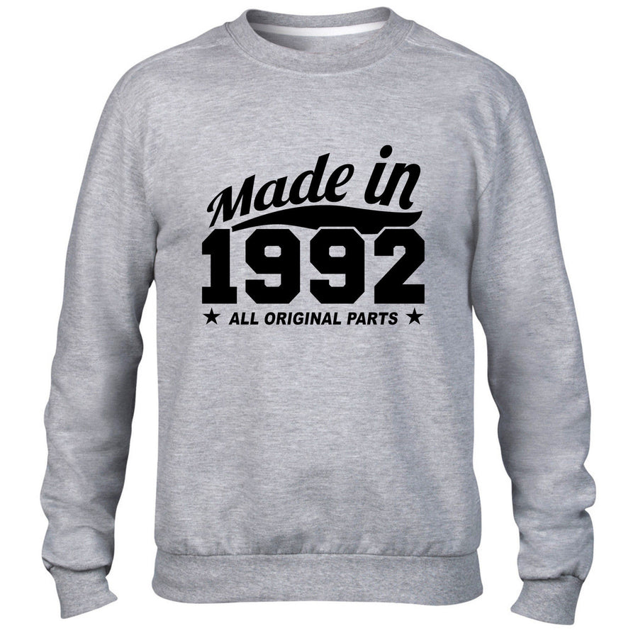 MADE IN 1992 ALL ORIGINAL PARTS SWEATER MENS WOMENS COOL PRESENT FUNNY GIFT