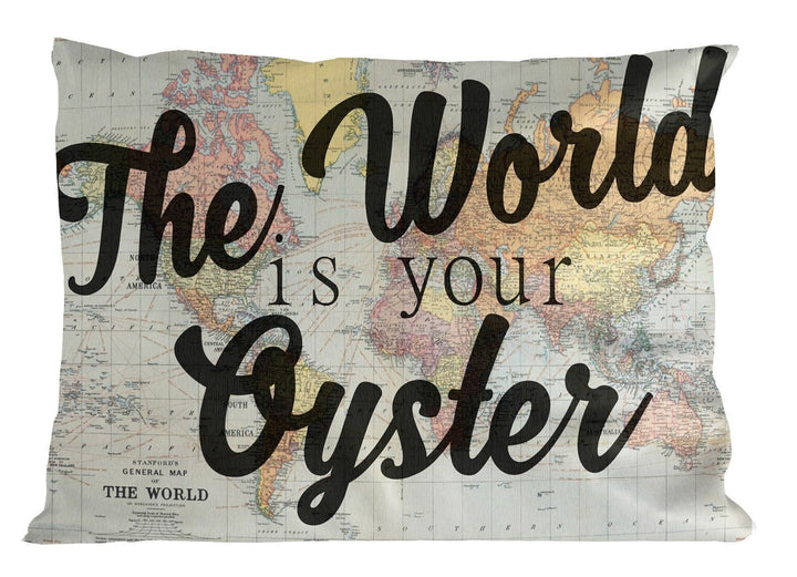 The World Is Your Oyster PILLOW Cushion Case Bedroom Wanderlust Birthday Gap P31