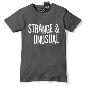 Strange and Unusual Mens Tshirt Halloween Costume Freak Boys Top Geek 446