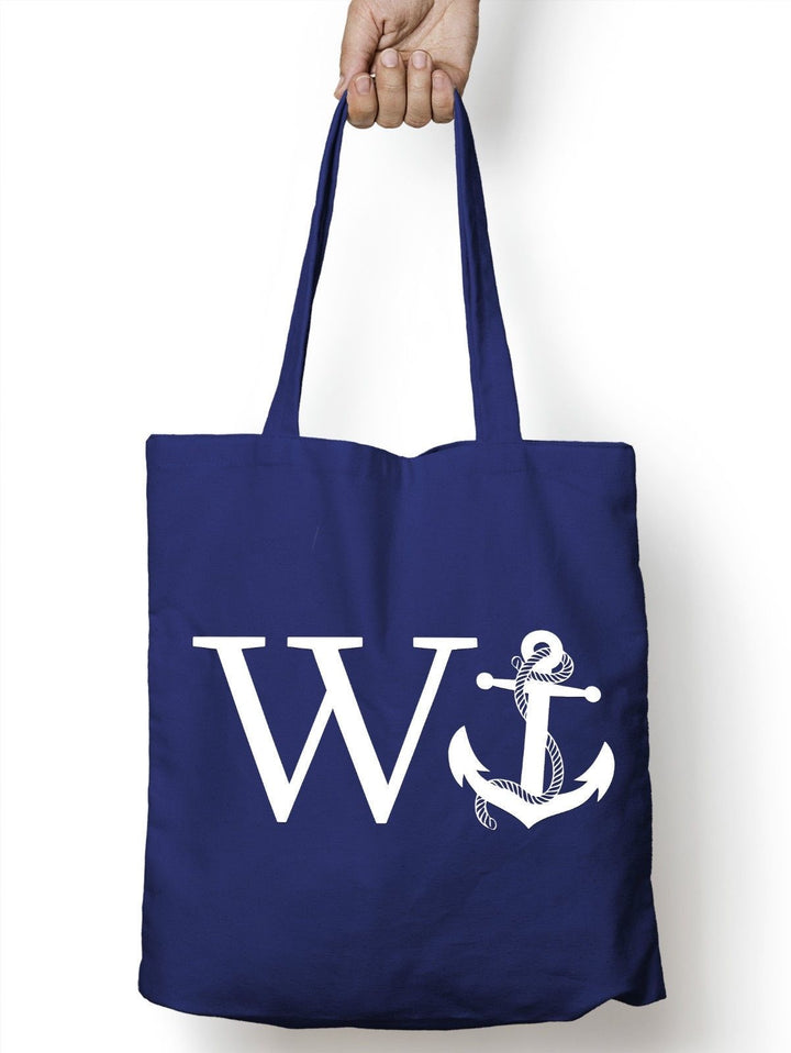 W Anchor Shopping Tote Bag Funny Joke Rude Sailor Tattoo Girls Bag Gay Shop M90