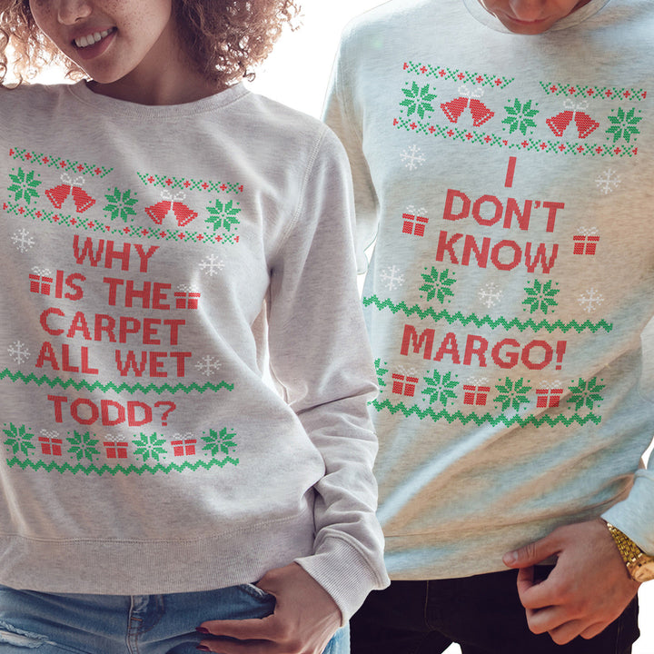 Todd and Margo Funny Couples Christmas Sweatshirt Sweater National Lampoon's