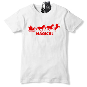Magical Unicorn Santa Reindeer T Shirt Funny Tee Christmas Top Magic Dust CH38