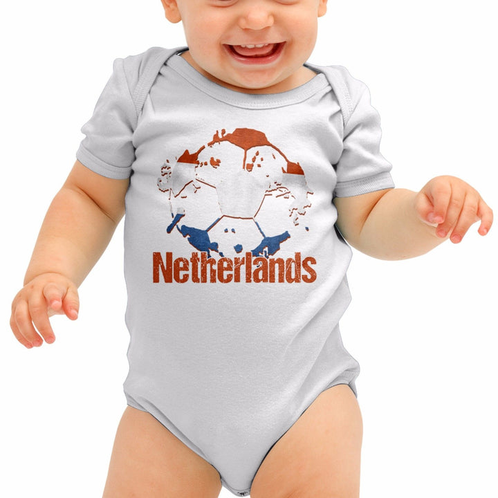 Netherlands Football Shirt Holland Top Baby Grow Romper Suit Babygrow Gift B40