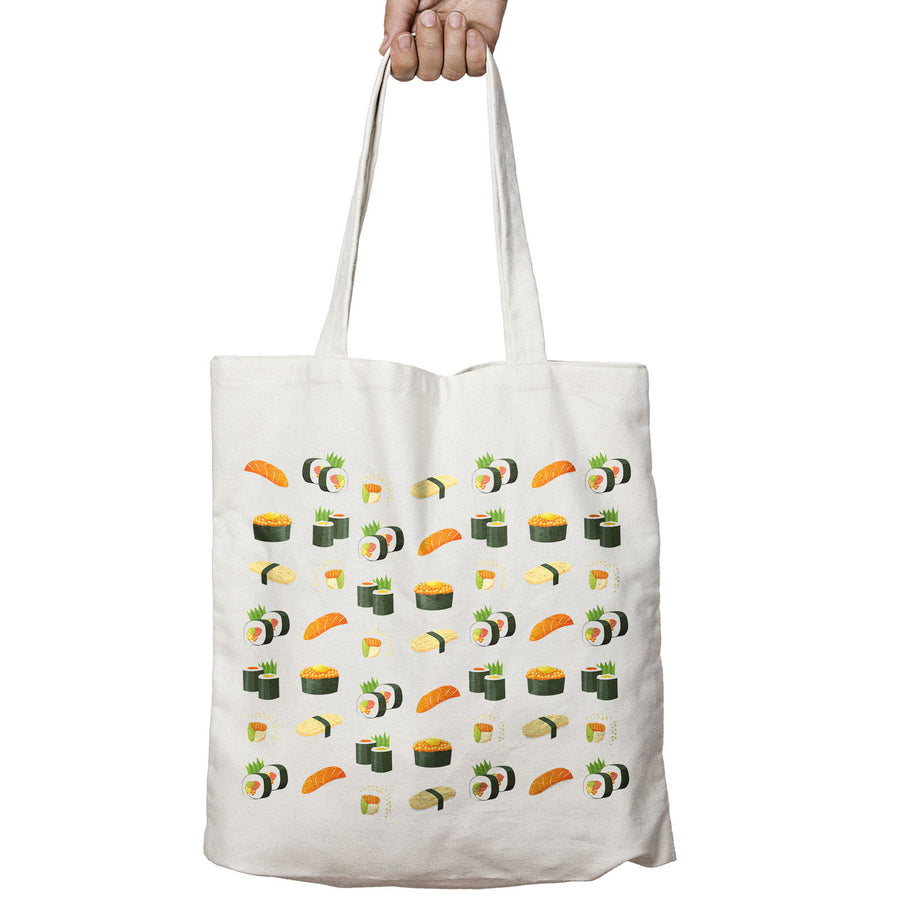 Sushi Fish Japan ALL OVER Tokyo Food Funny Shopper Tote Bag Shopping 532