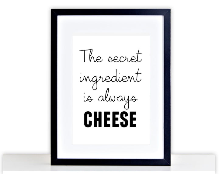 Cheese Picture Funny Food Poster Framed + Mounted Kitchen Picture Photo 201