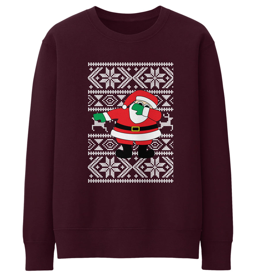 Dabbing Santa Christmas Jumper Sweatshirt Men Women Kids Xmas Funny Dab Father