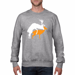 Reindeer Doggy Style Christmas Jumper Sweatshirt Deer Rude Christmas Funny CH3
