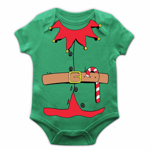 Elf Costume Christmas Baby Grow New Born Funny Xmas Boy Girl Santa Helper JC25