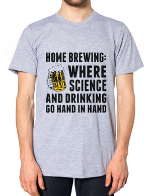 Home Brewing Science Funny Mens Drinking Tshirt Alcohol Womens T Shirt Fathers
