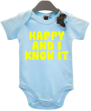 Happy And I Know It Baby Grow Cute Kids Pat A Cake Clap Baby Shower Baby EBG25