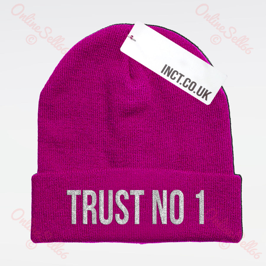 Trust No 1 Knitted Woolly Swag Winter Mens One Beanie Beenie Cap Hat Hipster