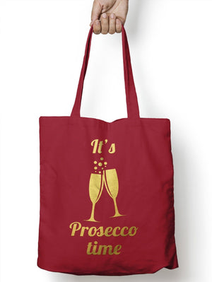 Its Prosecco Time Shopping Shopper Tote Geek Drink Shopping Bag for Life E14