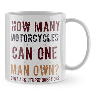 Motorbike Mug - How Many Motorcycles Moto GP Funny Gift Cup Bike Dad Grandad 879