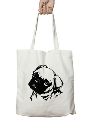 Pug Face Shopping Tote Bag Recycle Dog Life Drugs Pet Cute Girls Present M23
