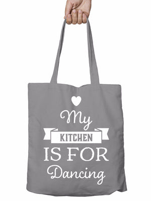 My Kitchen is for Dancing Funny Shopper Tote Bag Party Christmas Shopping T15