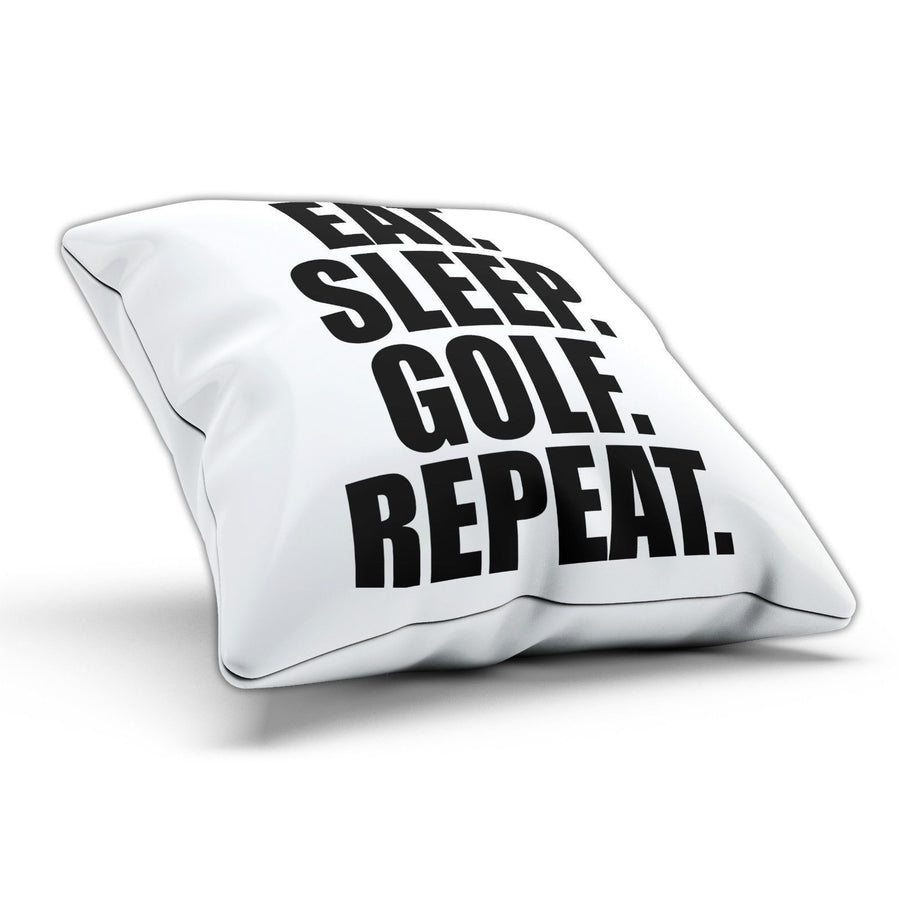 Eat Sleep Golf Pillow Cushion Pad Cover Case Bed Pool Golfer Club Golfing Sport
