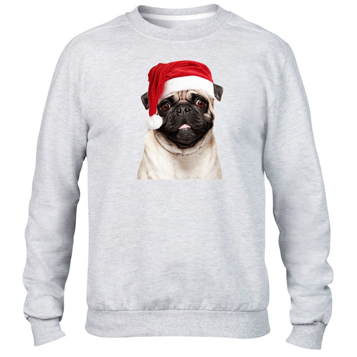Pug Santa Hat Christmas Jumper Sweater Drugs Funny Cute Puppy Dog Childrens Kids