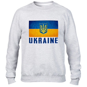 Ukraine Support Mens Sweatshirt Top Womens Sweater Nation Euro football Train