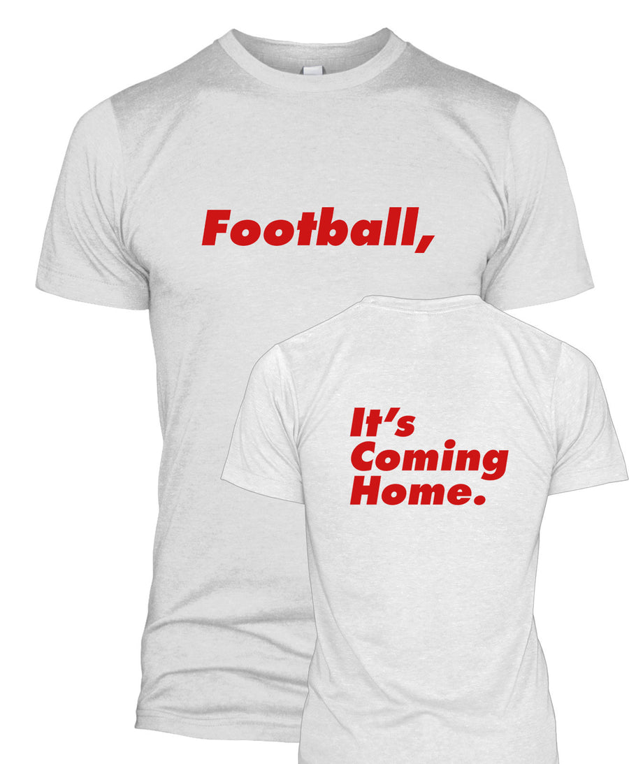 Football, It's Coming Home T-Shirt Funny Front and Back England World Cup  L280