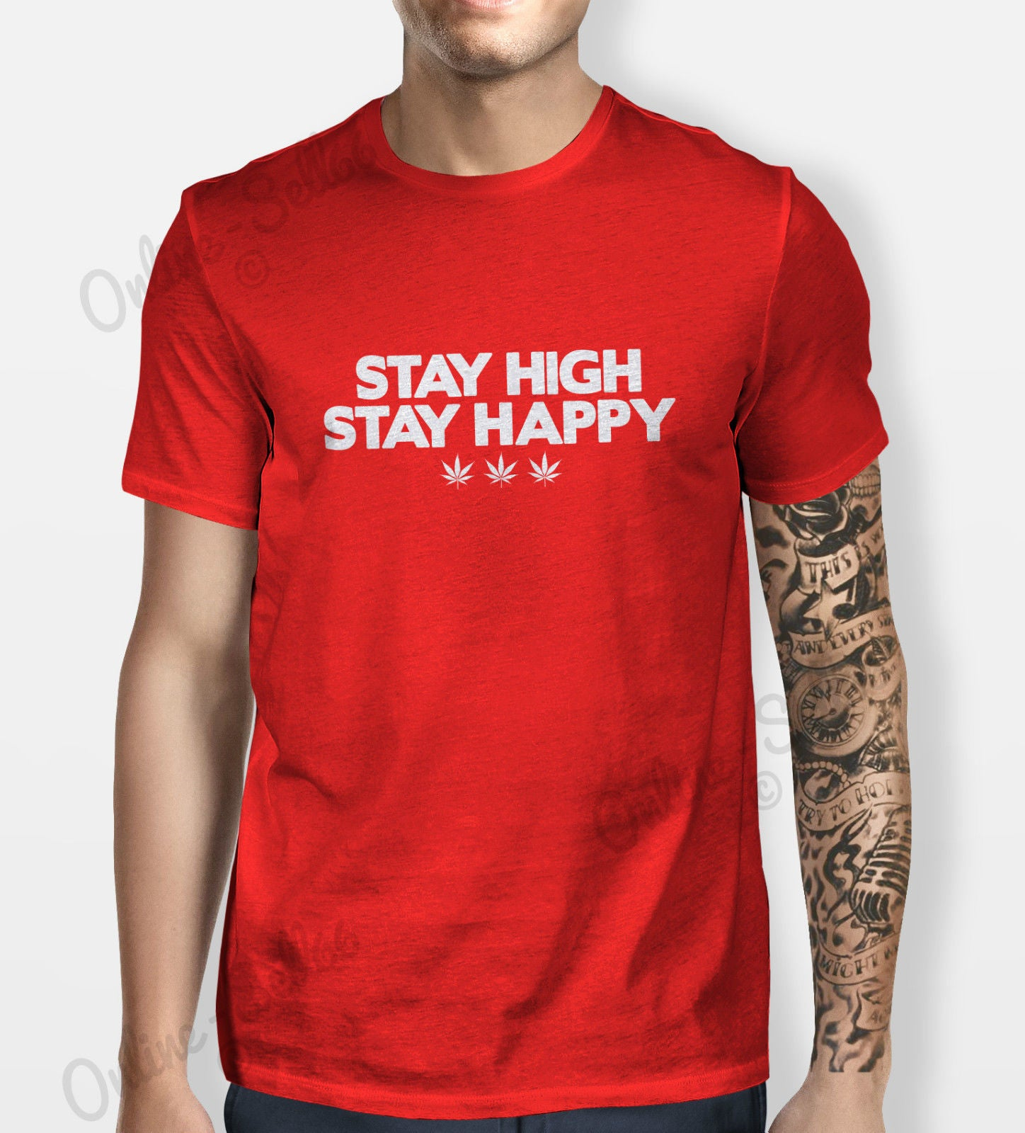 1ea935c84 Stay High Happy Tshirt Mens Womens Shirt Tee Funny Cool Weed 420 Cannabis  Drugs - The Clothing Shed