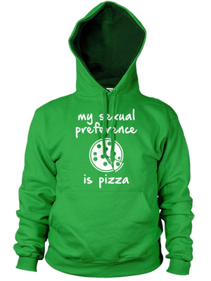 My Sexual Preference is Pizza Funny Mens Hoodie Hipster Womens Hoody Top