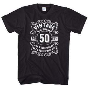 Men's 50th Birthday T-Shirt Gift Funny Old Age Idea Present Novelty 1958  L281