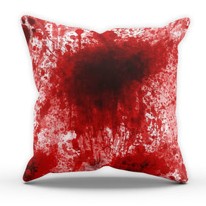 Blood Splat Cushion Spooky Halloween Death Scary Joke Gothic Gift Bedroom Party