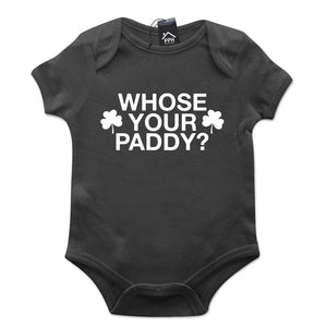 Whose Your Paddy Ireland St Patricks Day Baby Grow Gift Top Babygrow Suit Top P7