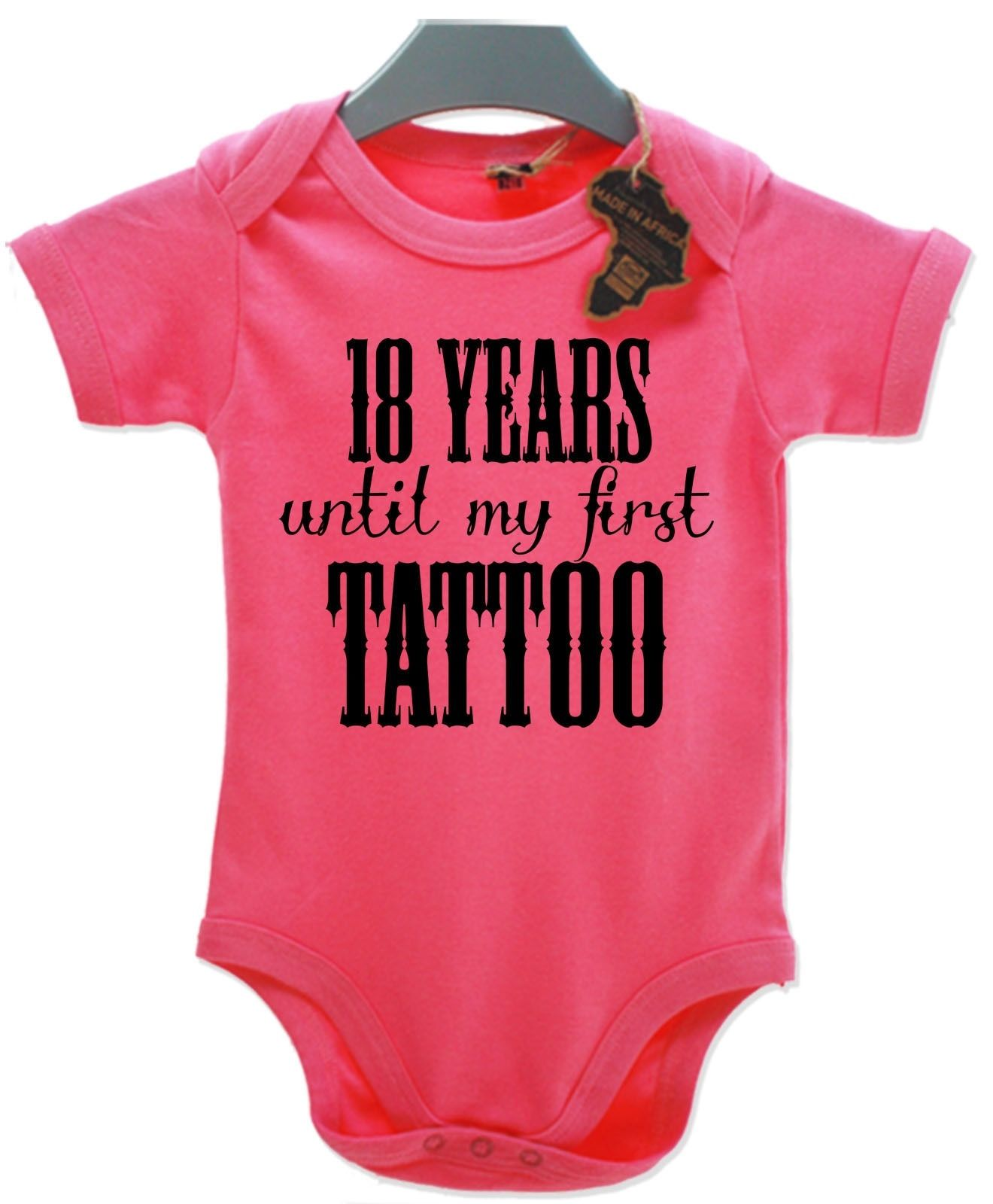 My Dad/'s Tattoo/'s Babygrow Vest Baby Clothing Funny Gift