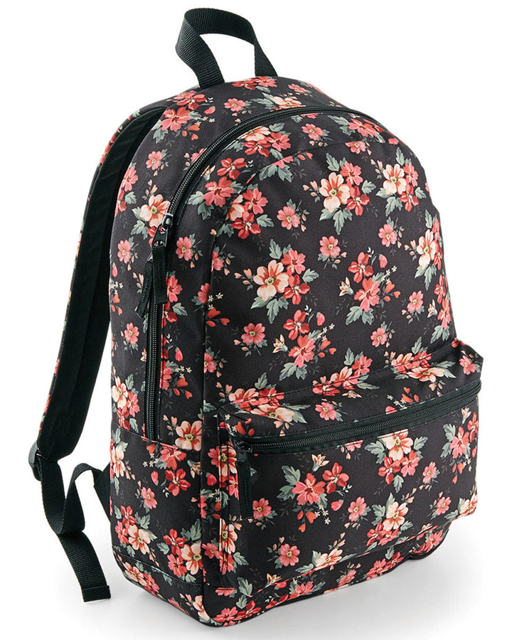 Faded Floral Backpack Bag School Rucksack Flower Pattern Hipster Cute Retro Indi