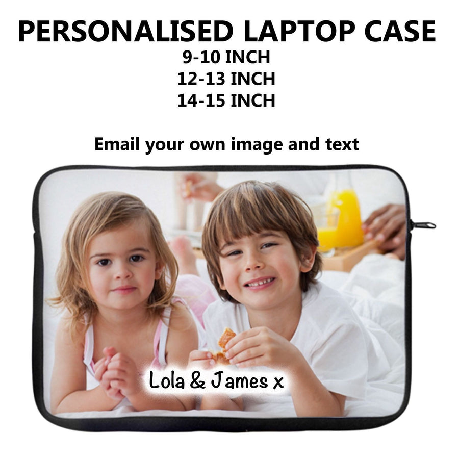 Personalised Laptop Sleeve Cover Case Bag Create your own Custom Gift Present